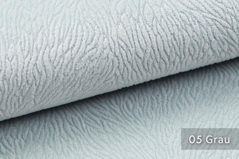 novely® TILDA | samtig weicher Chenille Möbelstoff mit feinem Muster | Farbe 05 Grau