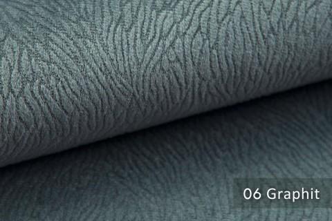 novely® TILDA | samtig weicher Chenille Möbelstoff mit feinem Muster | Farbe 06 Graphit