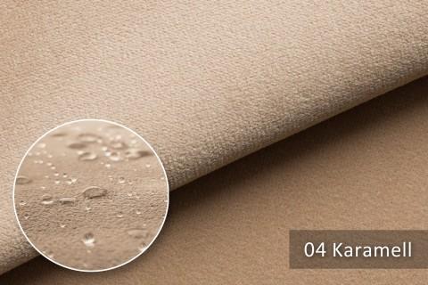 novely® TRITON High-Tech Mikrofaserstoff | wasserabweisend | Velours 04 Karamell