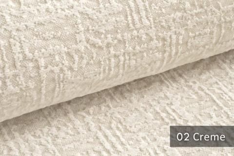 novely® exquisit VENEZIA – prachtvoller und samtweicher Möbelstoff | 02 Creme
