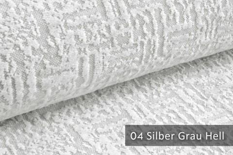 novely® exquisit VENEZIA – prachtvoller und samtweicher Möbelstoff | 04 Silber Grau Hell