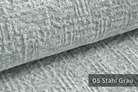 novely® exquisit VENEZIA – prachtvoller und samtweicher Möbelstoff | 05 Stahl Grau