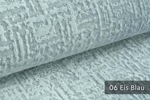 novely® exquisit VENEZIA – prachtvoller und samtweicher Möbelstoff | 06 Eis Blau