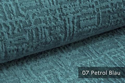 novely® exquisit VENEZIA – prachtvoller und samtweicher Möbelstoff | 07 Petrol Blau