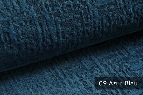 novely® exquisit VENEZIA – prachtvoller und samtweicher Möbelstoff | 09 Azur Blau