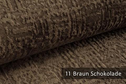 novely® exquisit VENEZIA – prachtvoller und samtweicher Möbelstoff | 11 Braun Schokolade