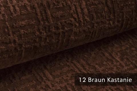 novely® exquisit VENEZIA – prachtvoller und samtweicher Möbelstoff | 12 Braun Kastanie