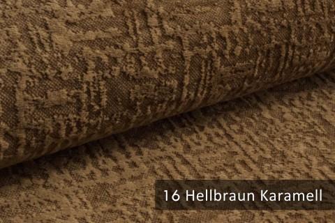 novely® exquisit VENEZIA – prachtvoller und samtweicher Möbelstoff | 16 Hellbraun Karamell