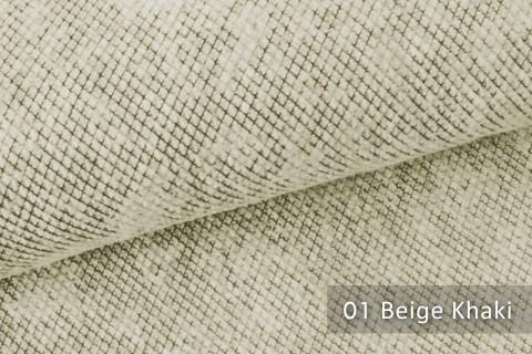 novely® WESSELN – extravaganter Möbelstoff mit Netz-Muster - Velours Polsterstoff | 01 Beige Khaki