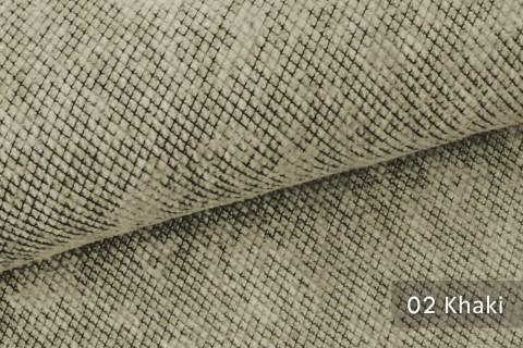 novely® WESSELN – extravaganter Möbelstoff mit Netz-Muster - Velours Polsterstoff | 02 Khaki