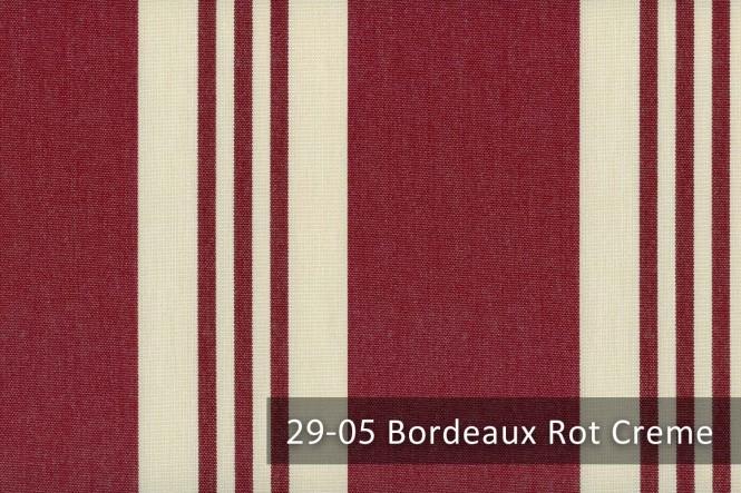 ARAGON DUO CORDOBA - Gestreifter Outdoorstoff - 29-05 Bordeaux Rot Creme