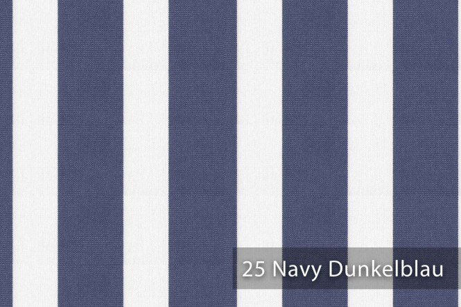 ARAGON DUO LLORET - Gestreifter Outdoorstoff - 25 Navy Dunkelblau