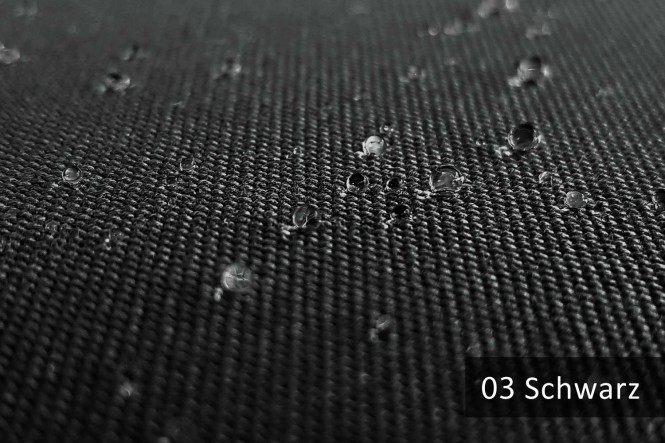 ARAGON WASSERABWEISEND - Wasserabweisender Outdoorstoff - 03 Schwarz