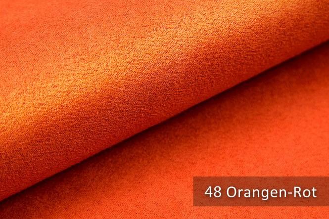 ALPEN - Microfaser Möbelstoff - 48 Orangen Rot