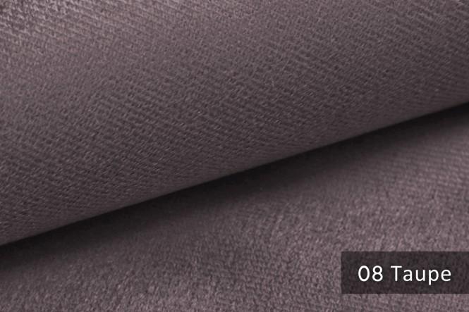 ARTENA - Velours Möbelstoff - Taupe