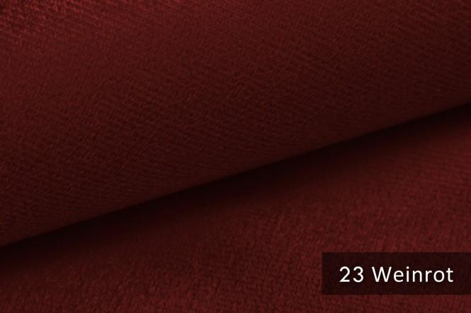 ARTENA - Velours Möbelstoff - Weinrot