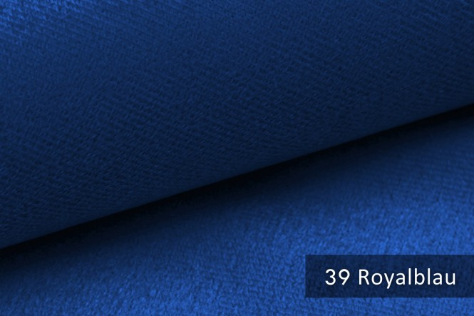 ARTENA - Velours Möbelstoff - Royalblau
