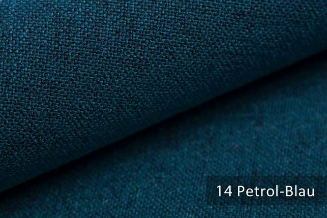 AUEN - Mélange Möbelstoff - 14 Petrol Blau