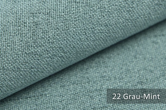novely® MUSTERSTÜCKE - Möbelstoffe Mélange - AUEN   M-AUE - 22 Grau Mint
