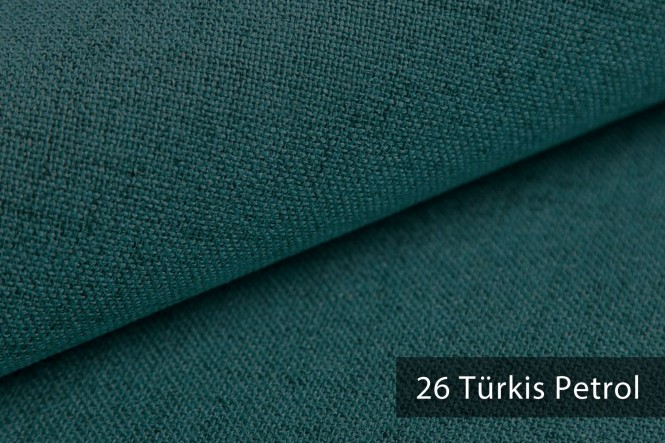 AUEN - Mélange Möbelstoff - 26 Türkis Petrol