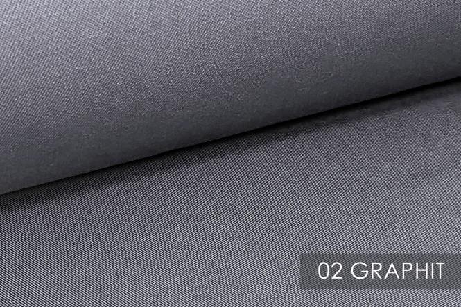 PROVENT - Reißfester Baumwollstoff - 02 Graphit