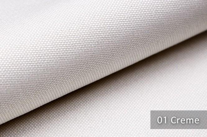 BALTRUM - Fein gewebter Möbelstoff - 01 Creme