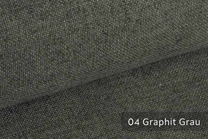 ERFURT - Eleganter Möbelstoff - 04 Graphit Grau