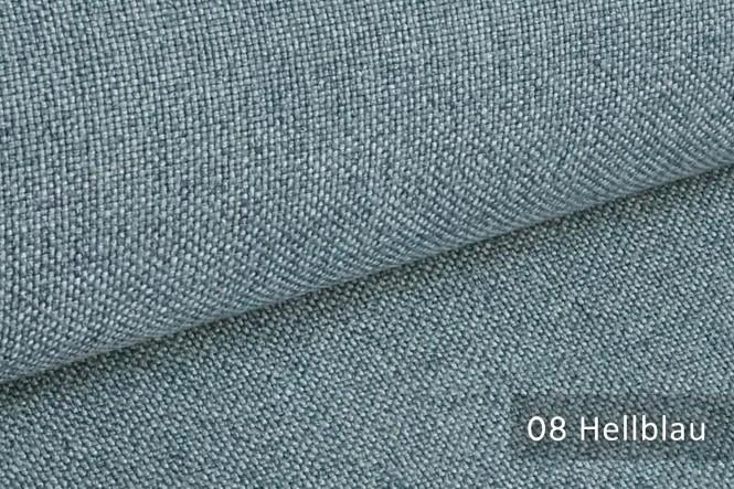 ERFURT - Eleganter Möbelstoff - 08 Hellblau