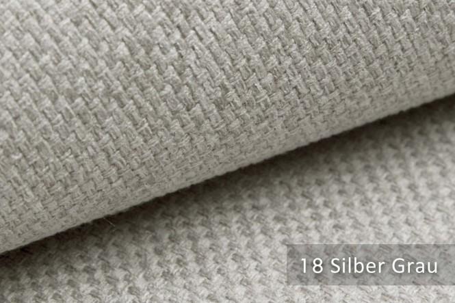 GRANA - Melierter Möbelstoff - 18 Silber Grau
