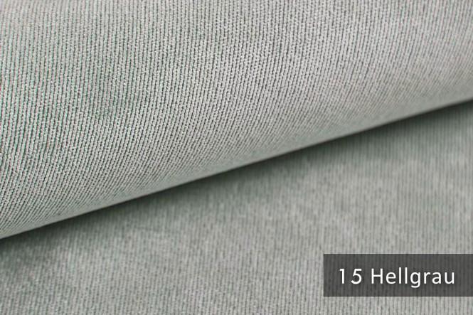 ISSUM - Samtweicher Möbelstoff - 15 Hellgrau