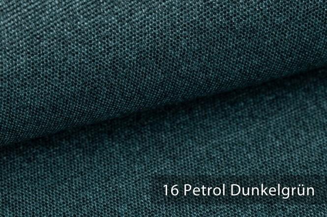 JUKENAU - Melierter Möbelstoff - 16 Petrol Dunkelgrün