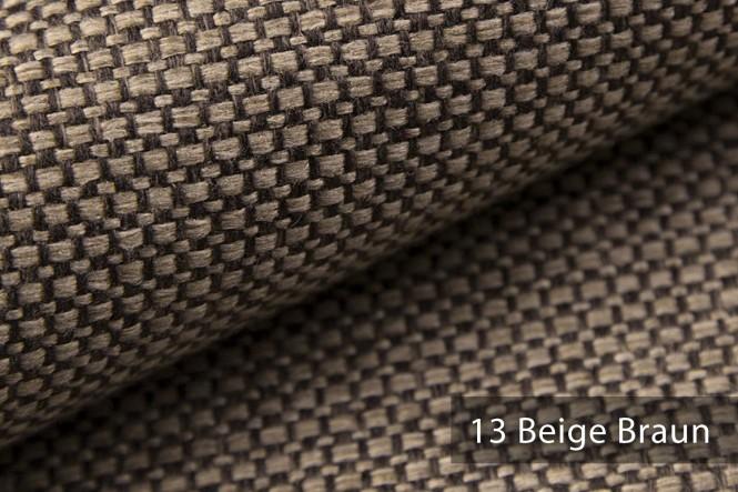 KREMS - Grob gewebter Mélange-Stoff - 13 Beige Braun