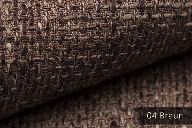 LANZ - Grob gewebter Möbelstoff - 04 Braun