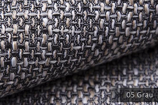 LANZ - Grob gewebter Möbelstoff - 05 Grau