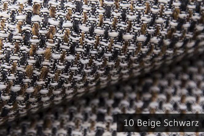 LANZ - Grob gewebter Möbelstoff - 10 Beige Schwarz
