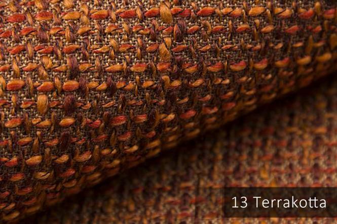 LANZ - Grob gewebter Möbelstoff - 13 Terracotta