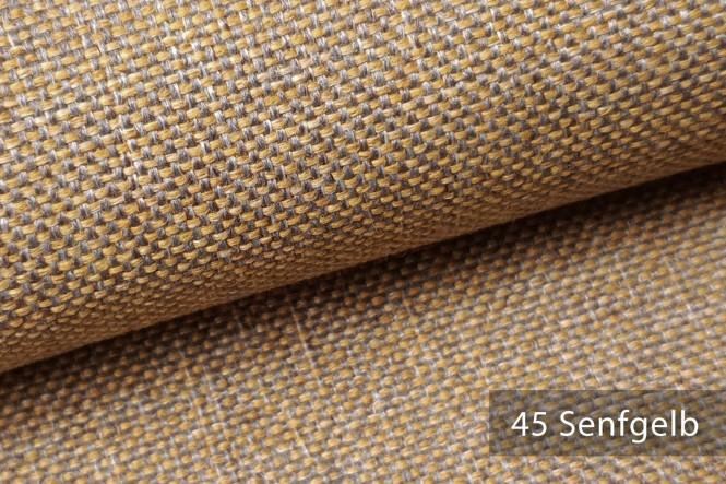 LARISO - Melierter Möbelstoff - 45 Senfgelb