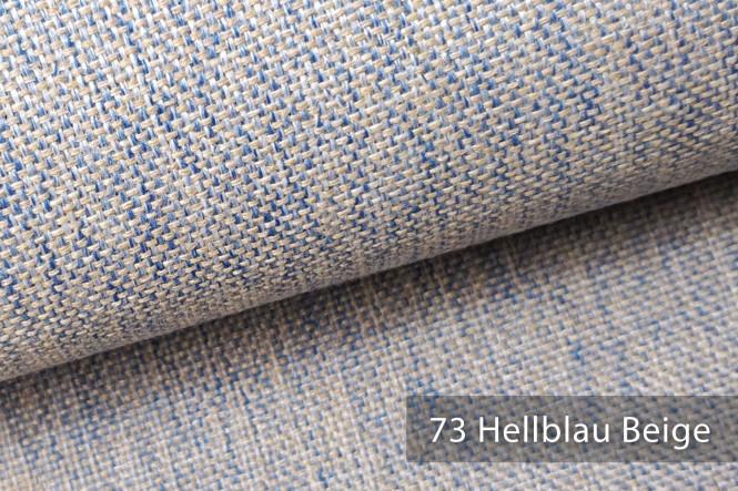 novely® MUSTERSTÜCKE - Möbelstoffe Handwebcharakter - LARISO | LAR - 73 Hellblau Beige