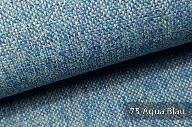 LARISO - Melierter Möbelstoff - 75 Aqua Blau