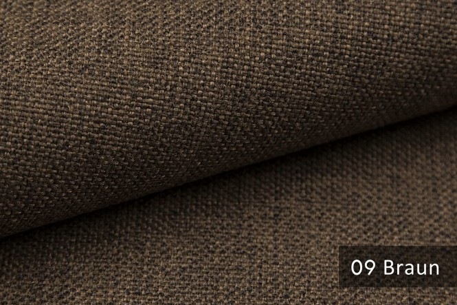 LEHR - Grob gewebter Möbelstoff - 09 Braun