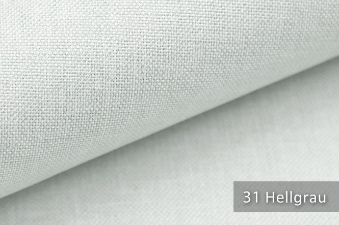 novely® MUSTERSTÜCKE - Möbelstoffe Mélange - LUSO | M-LUS - 31 Hellgrau