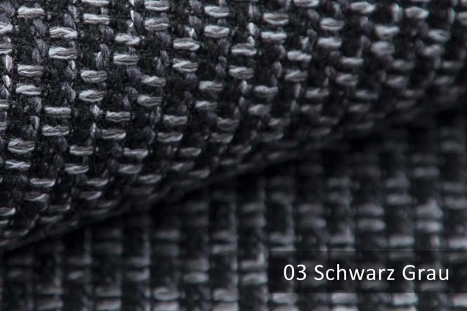 MALBORN - Melierter Möbelstoff - 03 Schwarz Grau