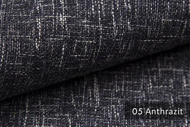 MIROW - Melierter Möbelstoff - 05 Anthrazit