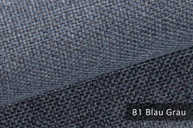 MUDAU - Grob gewebter Möbelstoff - 81 Blau Grau
