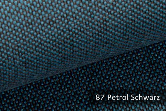 MUDAU - Grob gewebter Möbelstoff - 87 Petrol Schwarz