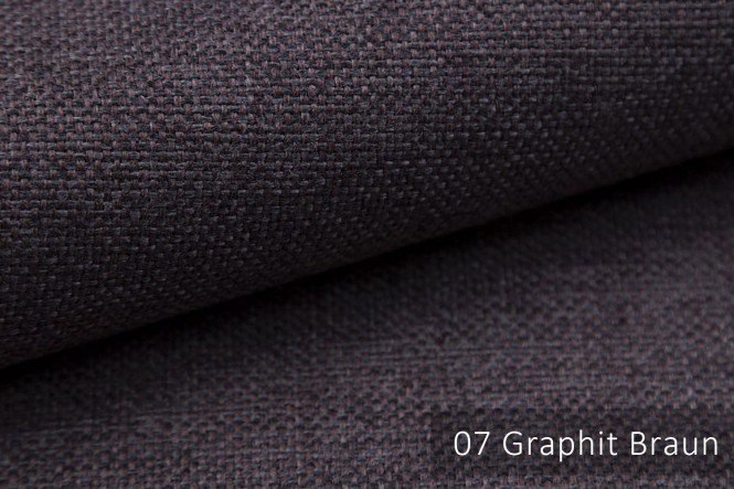 MUDAU - Grob gewebter Möbelstoff - 07 Graphit Braun