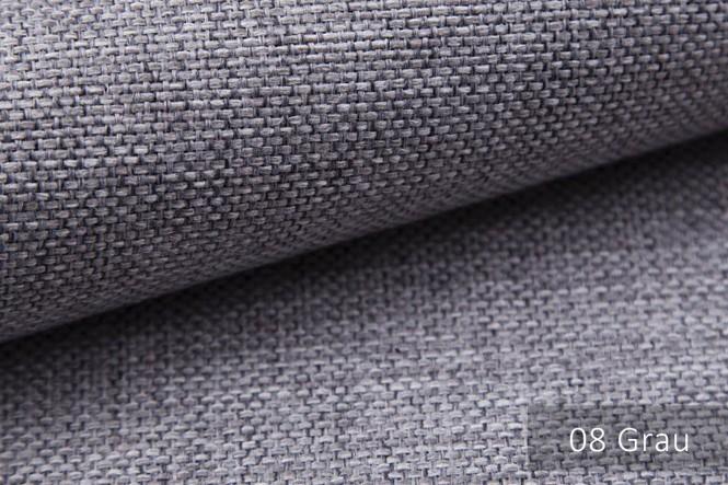 MUDAU - Grob gewebter Möbelstoff - 08 Grau