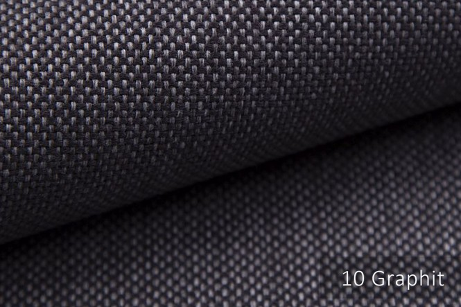 MUDAU - Grob gewebter Möbelstoff - 10 Graphit
