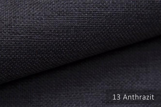 MUDAU - Grob gewebter Möbelstoff - 13 Anthrazit