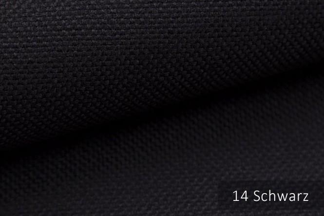 MUDAU - Grob gewebter Möbelstoff - 14 Schwarz